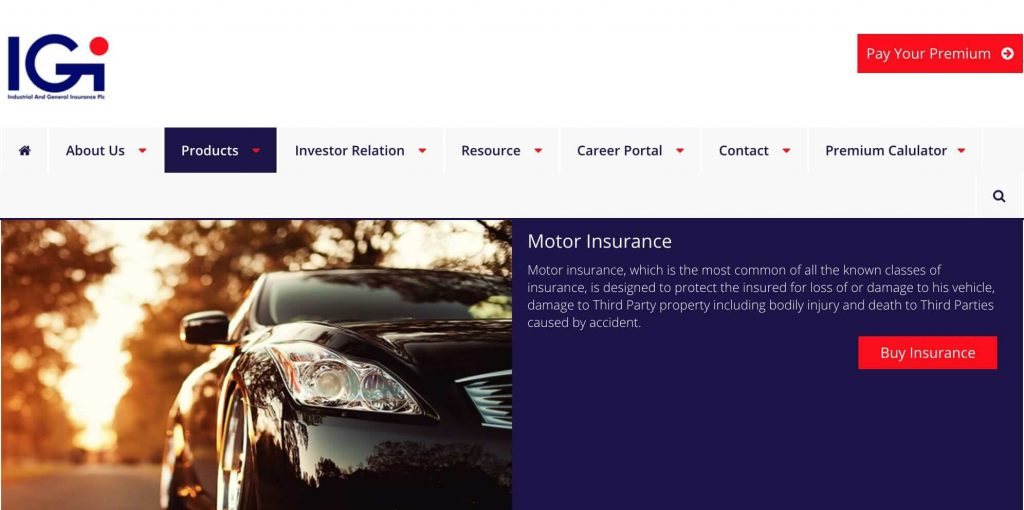 igi motor car insurance in NIgeria
